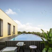 Penthouse Dachterasse mit Pool